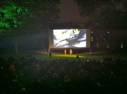 Cykelfilm i Ørstedparken med og af Jørgen Leth, Digital afvikling og lys